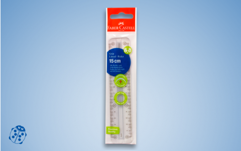 Faber-Castell Grip Lineal, 15 cm