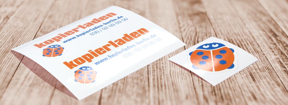 Sticker, Etiketten und Aufkleber drucken
