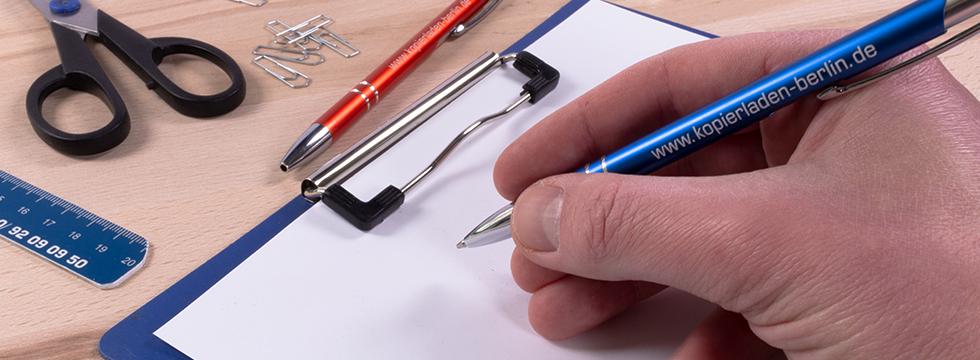 Kugelschreiber mit Gravur selbst gestalten