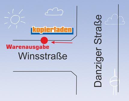 Warenausgabe von Onlinebestellungen Filiale Prenzlauer Berg